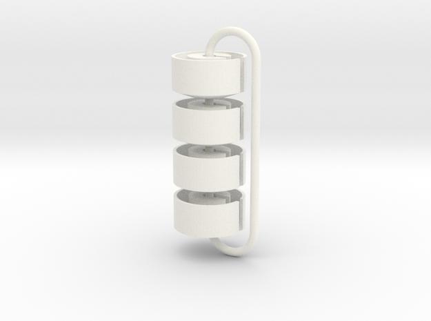 RC10 Classic spring cup prototype 4pcs (9mm) in White Processed Versatile Plastic