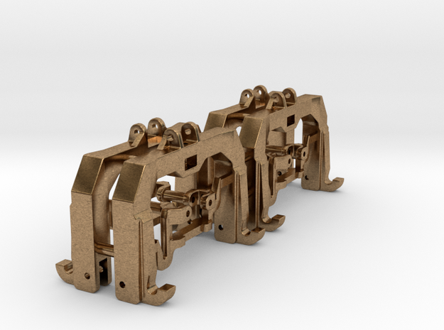 (4) GREEN 3 POINT CAT 3/4N  QUICK HITCH  in Natural Brass