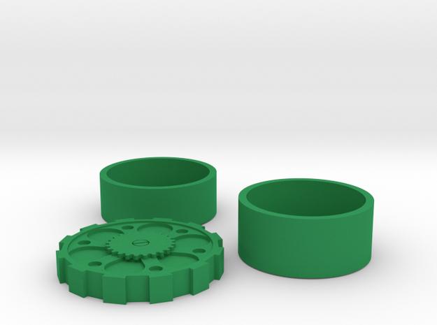 Steam Punk Set British 2 Pound (£2) in Green Processed Versatile Plastic