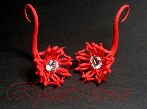 Plugs / gauges/  The Lily  10 g (2.5 mm) in Red Processed Versatile Plastic