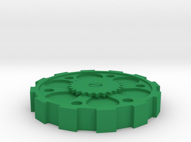 Steam Punk Lid British 2 Pound (£2) in Green Processed Versatile Plastic