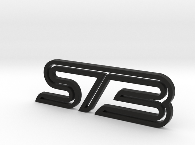 Ford Focus ST3 badge in Black Strong & Flexible