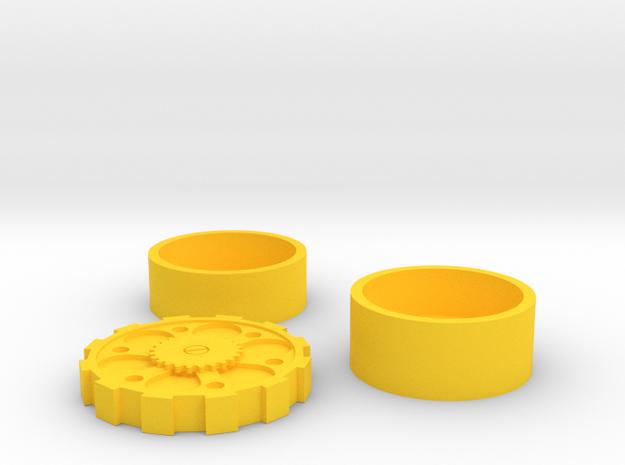 Steam Punk Set 2 Euro in Yellow Processed Versatile Plastic
