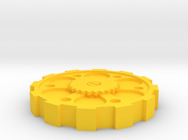 Steam Punk Lid 2 Euro in Yellow Processed Versatile Plastic