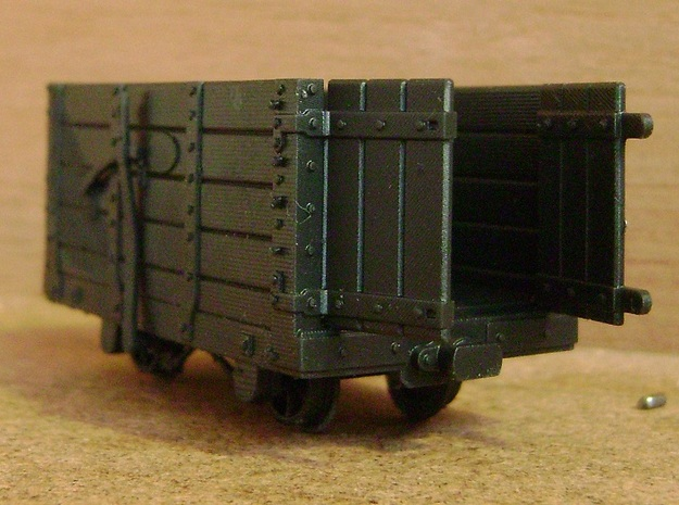 FR Wagon Open Doors 5.5mm Scale in Smooth Fine Detail Plastic