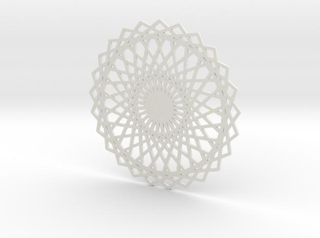 Coaster_3 in White Natural Versatile Plastic