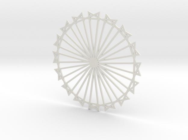 Coaster_9 in White Natural Versatile Plastic