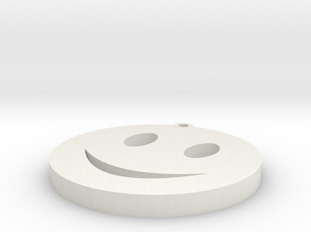 smiley keychain in White Natural Versatile Plastic