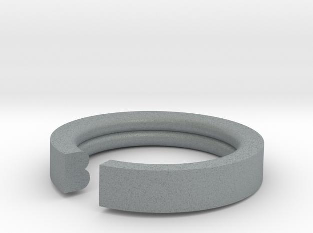 B Ring in Polished Metallic Plastic: 6 / 51.5