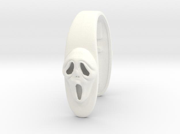 SCREAM #50 KEY FOB in White Processed Versatile Plastic