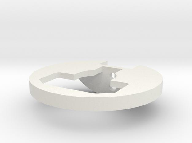 Custom Works Hub Rock Guard in White Natural Versatile Plastic