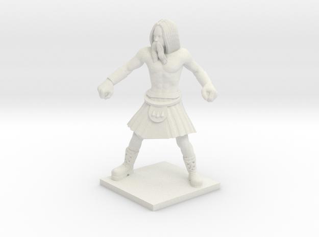 Norse 01 - Berserker in White Natural Versatile Plastic