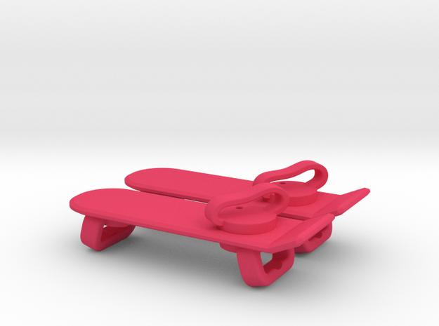 """Hoverboard"" Lacelocks in Pink Processed Versatile Plastic"