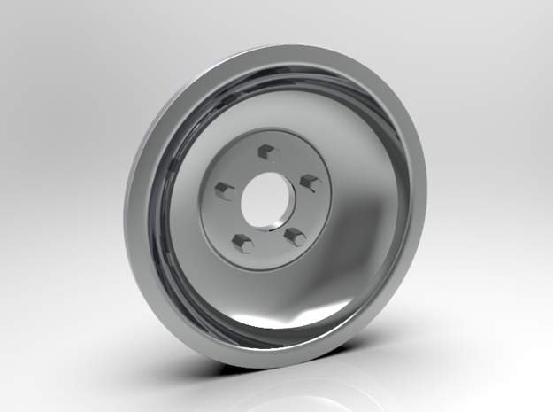 1:8 Front Indy Style Wheel in White Strong & Flexible Polished