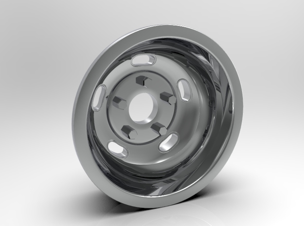 1:8 Rear Indy Kidney Bean Wheel in White Strong & Flexible Polished
