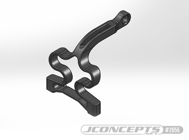 2656 - JConcepts - B6 roller coaster chassis brace in Black Natural Versatile Plastic