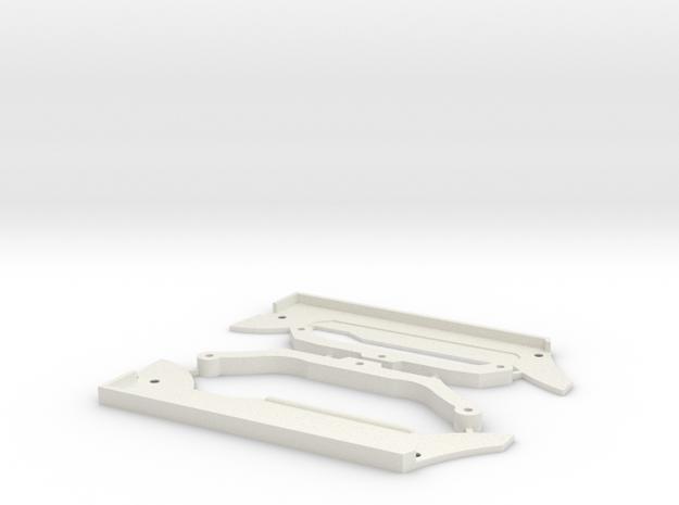 4 WD   GLA  Bavettes in White Natural Versatile Plastic