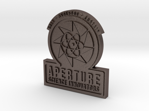 Portal 2 ® Aperture Science Innovators Pin in Polished Bronzed Silver Steel