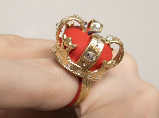 Crown Ring in Red Strong & Flexible Polished: 10 / 61.5