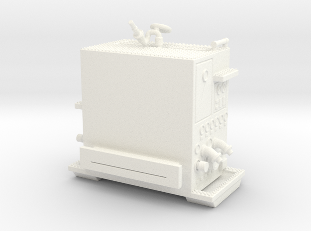 1/64-Scale Pumper Pump Module in White Processed Versatile Plastic