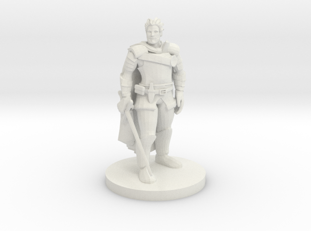 Human Male Fighter in White Natural Versatile Plastic