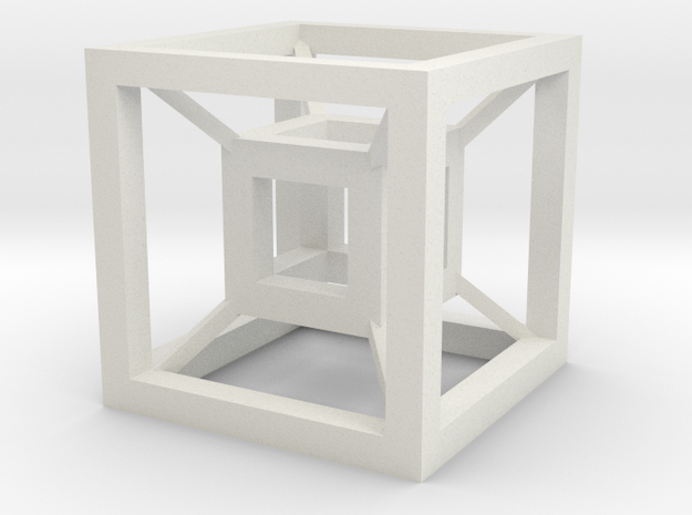Cube in the cube in White Natural Versatile Plastic