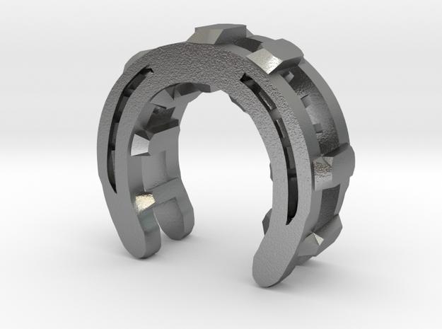 horseshoe V2 in Raw Silver