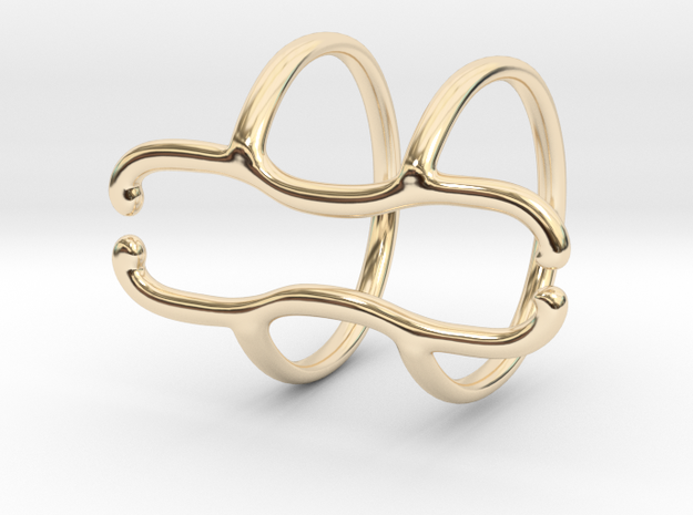 End Splint - 8 (14,75 mm + 13,5 mm) in 14k Gold Plated Brass