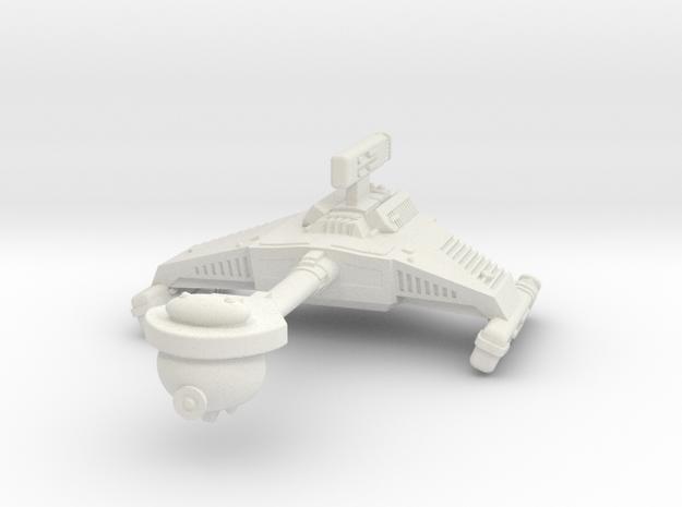 3125 Scale Klingon HF5 Heavy War Destroyer WEM in White Natural Versatile Plastic