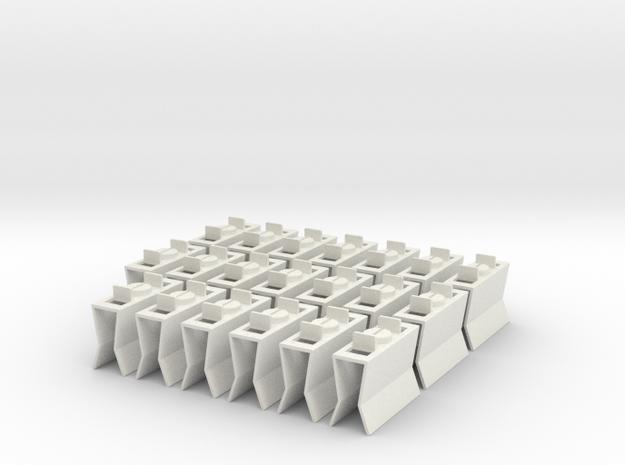 HIC Clips x20 V2 in White Natural Versatile Plastic