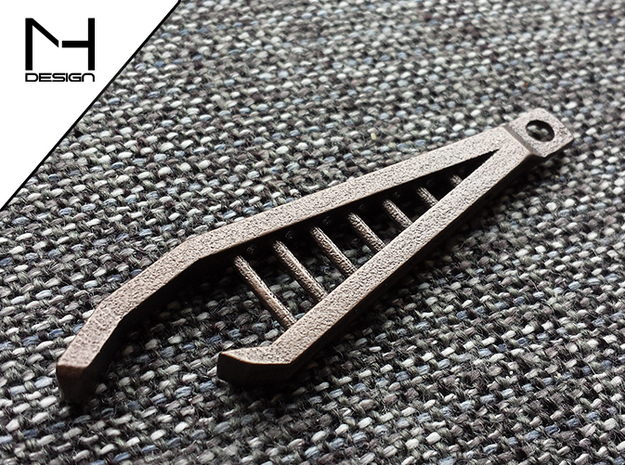 Industrial Bottle Opener in Polished Bronze Steel