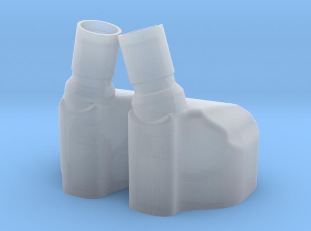 Earphone Shells OP2 in Smooth Fine Detail Plastic