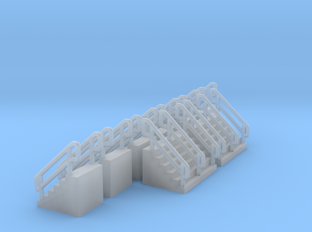 Z Scale Concrete Stairs Ken in Smooth Fine Detail Plastic