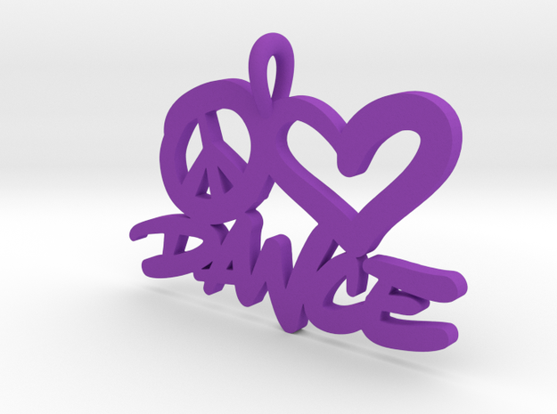 32 – PLDANCE - HAND-WRITTEN in Purple Strong & Flexible Polished: Small