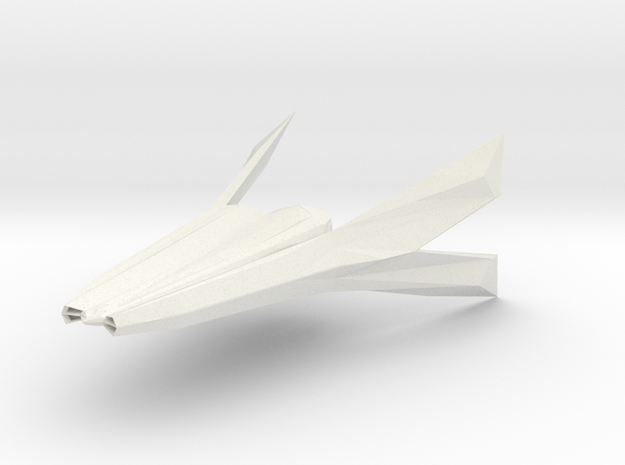 F/A-174 Laridae Space Fighter in White Natural Versatile Plastic