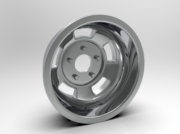 1:8 Rear Ansen Sprint Wheel in White Strong & Flexible Polished