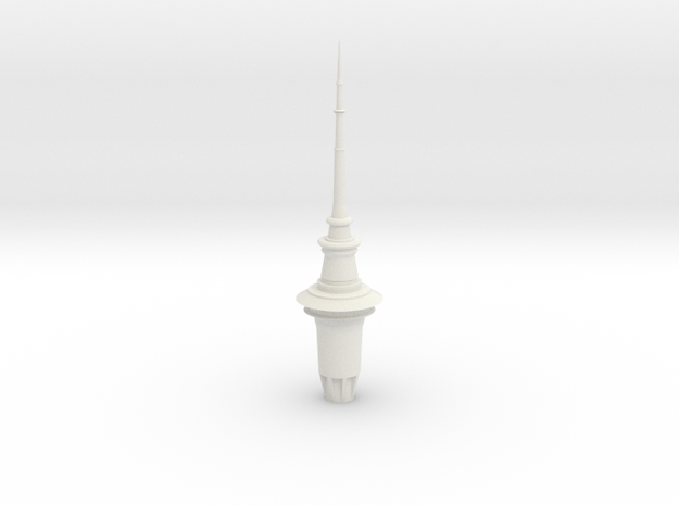 ASTT - Auckland SkyTower 1:500 Top Section in White Natural Versatile Plastic