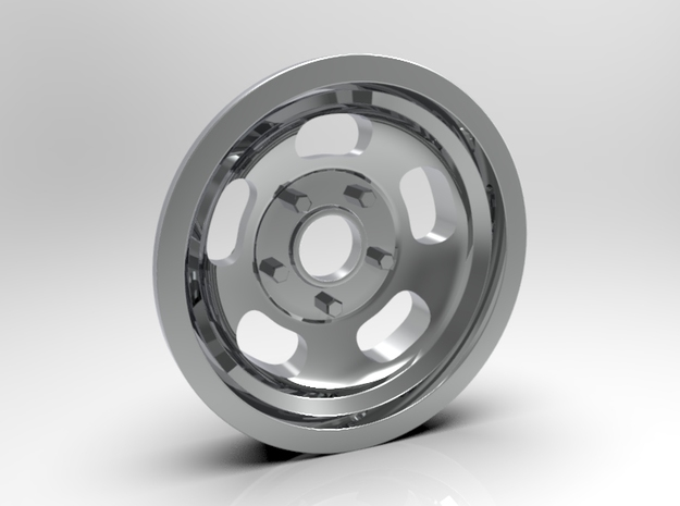 1:8 Front Ansen Sprint Wheel in White Strong & Flexible Polished