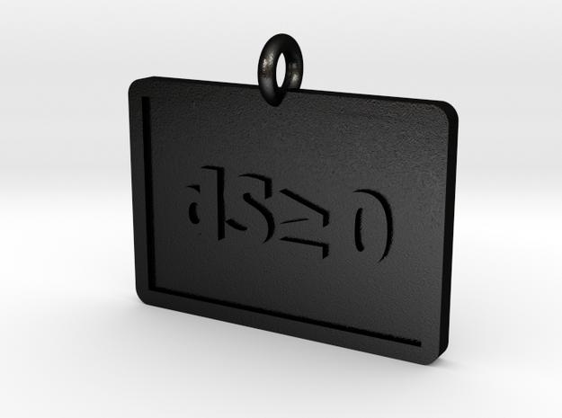 Second Law of Thermodynamics Pendant in Matte Black Steel