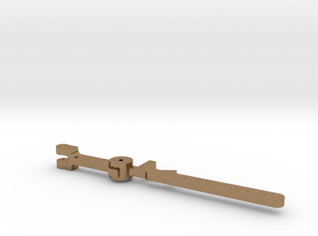 HO Valve Gear Crosshead Link in Natural Brass