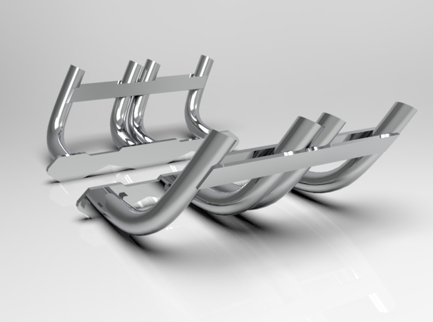 1:8 Zoomie Style Headers for Small Block Chevy in White Strong & Flexible Polished