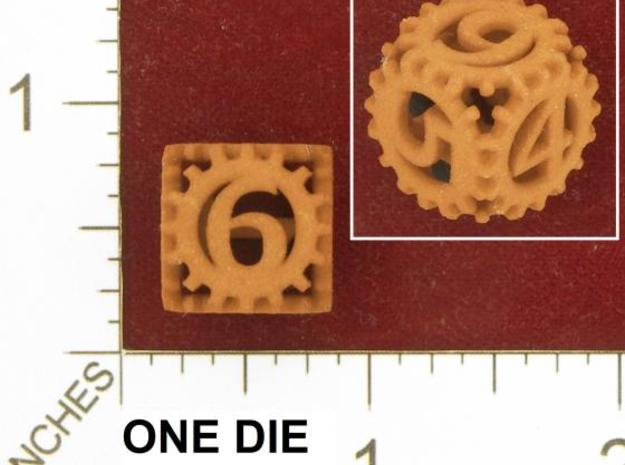 Static Gear Die (D6) in White Strong & Flexible