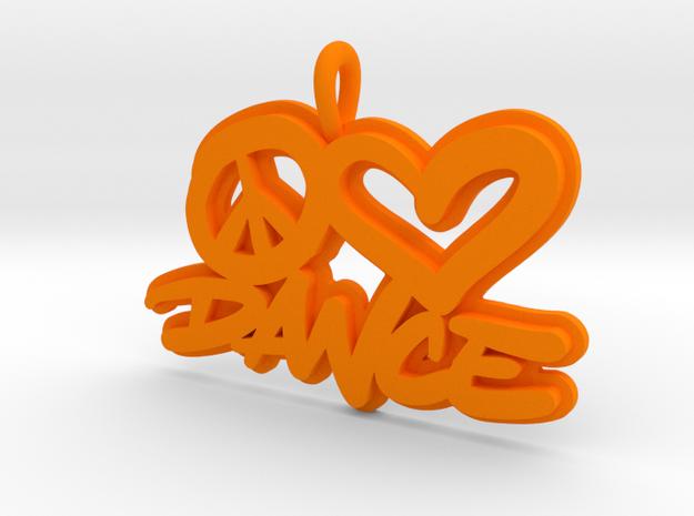 33 - PLDANCE-Border in Orange Processed Versatile Plastic: Small