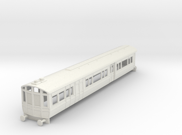 o-76-lnwr-steam-railmotor-v2 in White Strong & Flexible