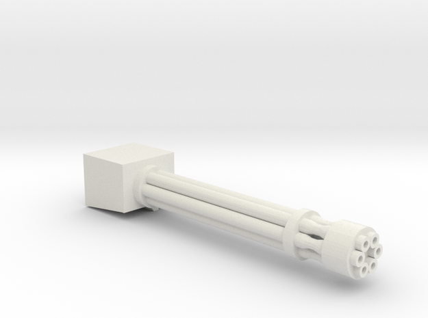 M40kRotary cannon tank weapon in White Natural Versatile Plastic