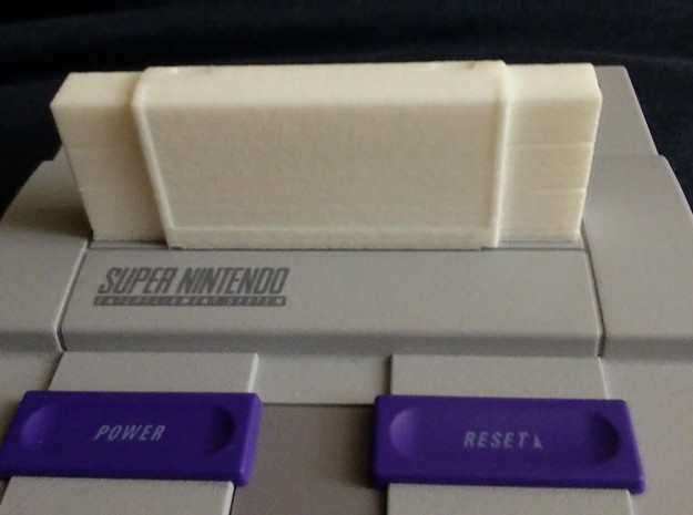 Hollow SNES classic mini cartridge in White Strong & Flexible Polished