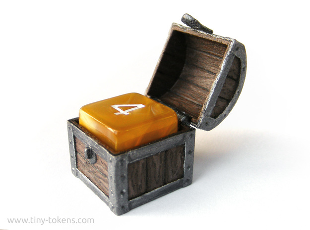 MTG Treasure Chest Token (16 mm dice chest)
