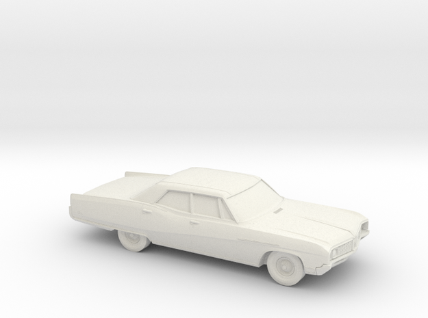 1/72 1967-68 Buick Electra Sedan in White Natural Versatile Plastic