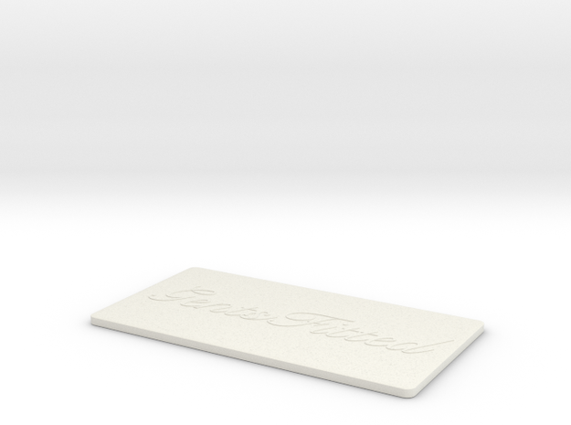 GentsFitted Card in White Strong & Flexible