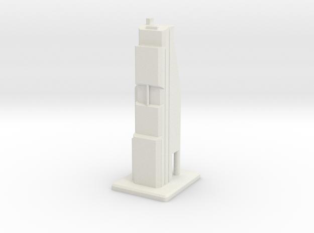 Modern Skyscraper in White Strong & Flexible